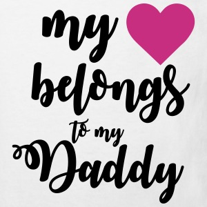 My heart belongs to my daddy Magliette - Maglietta ecologica per bambini