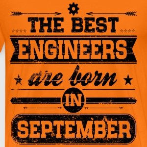 Engineers Born September T-Shirts - Männer Premium T-Shirt