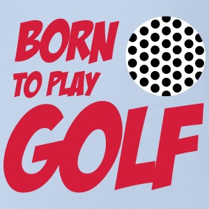 Born To Play Golf Babybody - Baby bio-rompertje met korte mouwen