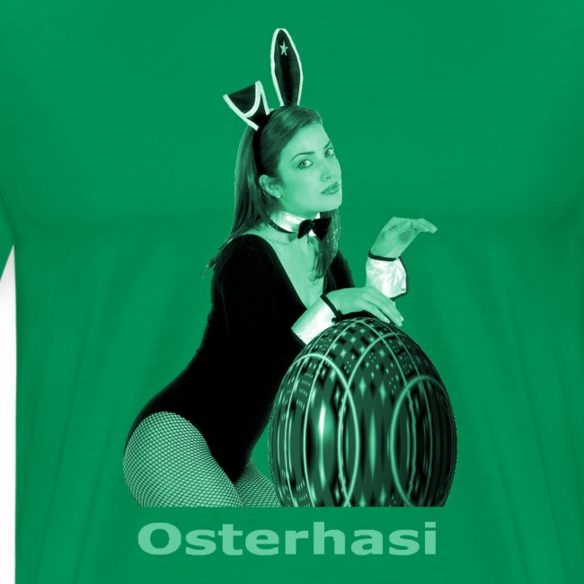 Osterhasi grün