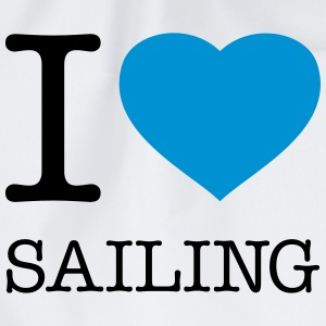I LOVE SAILING Bags & Backpacks - Drawstring Bag