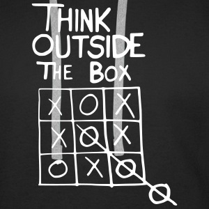 Tic Tac Toe Think outside the Box - Männer Premium Hoodie