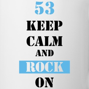 53 Keep calm and rock on Tassen & Zubehör - Tasse
