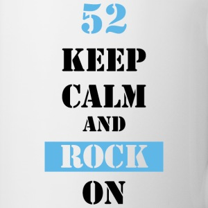 52 Keep calm and rock on Tassen & Zubehör - Tasse