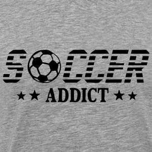 Soccer addict sport ball T-Shirts - Men's Premium T-Shirt