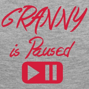 Granny is paused button quote Long Sleeve Shirts - Women's Premium Longsleeve Shirt