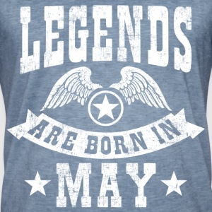 Legend Are Born in May T-Shirts - Männer Vintage T-Shirt