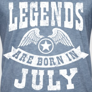 Legend Are Born in July T-Shirts - Männer Vintage T-Shirt