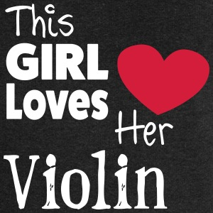 This Girl Loves Her Violin Pullover & Hoodies - Frauen Premium Kapuzenjacke