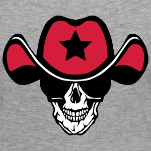 Skull hat cowboy star skull Long Sleeve Shirts - Women's Premium Longsleeve Shirt