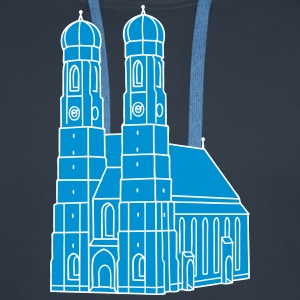 Frauenkirche de Munich 2 Sweat-shirts - Sweat-shirt à capuche Premium pour hommes