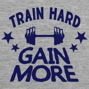 train hard gain more citation musculatio Vêtements de sport - Débardeur Premium Homme
