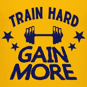 train hard gain more citation musculatio Tee shirts - T-shirt Premium Ado