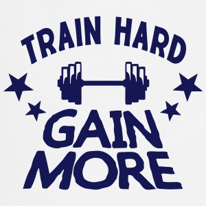 train hard gain more quote  musculation  Aprons - Cooking Apron