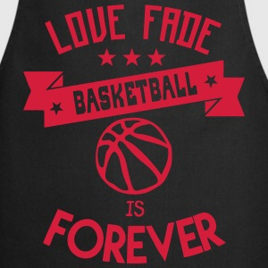 basketball love fade quote forever  Aprons - Cooking Apron
