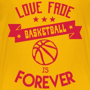 basketball love fade quote forever Shirts - Teenage Premium T-Shirt
