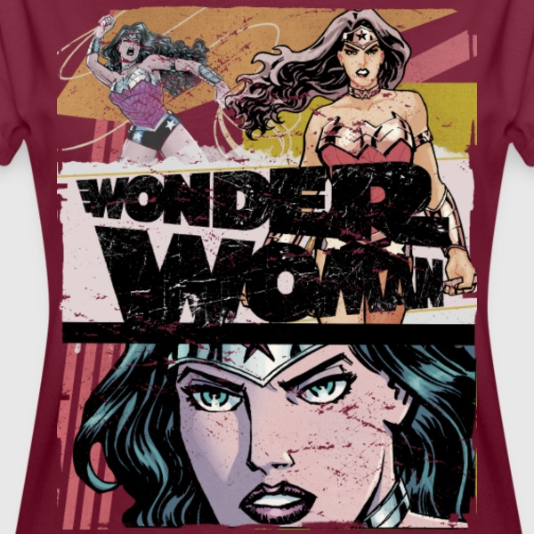 DC Comics Wonder Woman Prisma Various Poses - Oversize-T-shirt dam