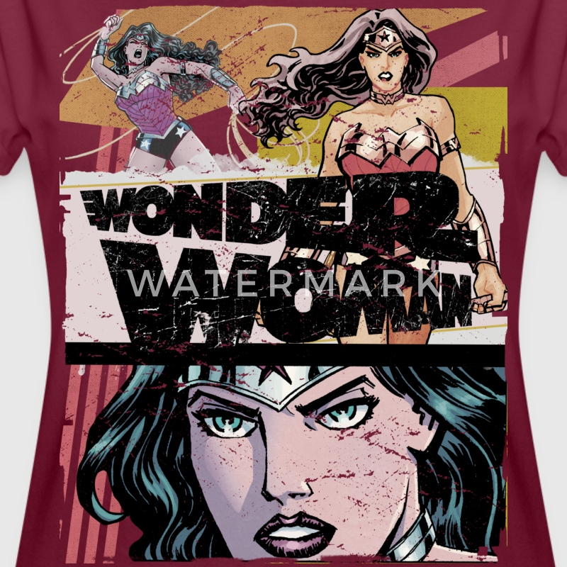 DC Comics Wonder Woman Collage - T-shirt oversize Femme