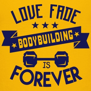 bodybuilding love fade quote forever Shirts - Teenage Premium T-Shirt