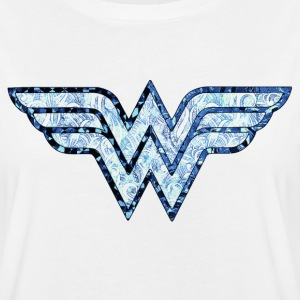 DC Comics Wonder Woman Logo Ornements - T-shirt oversize Femme