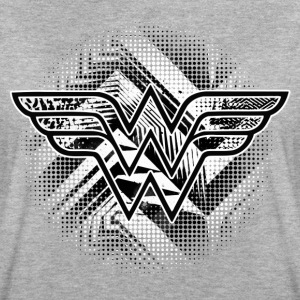 DC Comics Wonder Woman Logo Muster Black and white - Frauen Oversize T-Shirt