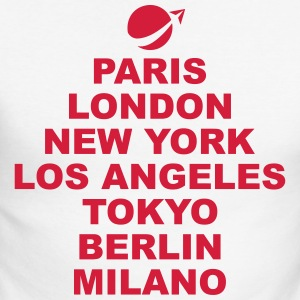 Paris London New York Manches longues - T-shirt baseball manches longues Homme