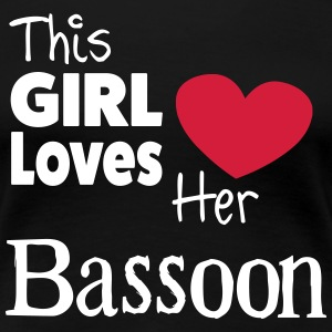 This Girl Loves Her Bassoon T-shirts - Vrouwen Premium T-shirt