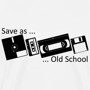 Save as ... Old School T-shirts - Mannen Premium T-shirt