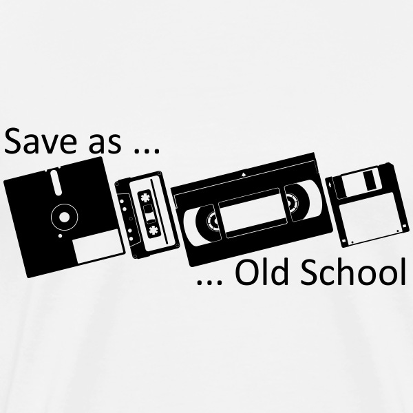 Save as ... Old School T-Shirts - Men's Premium T-Shirt