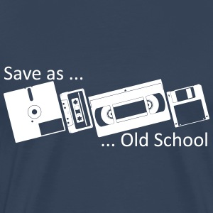 Save as ... Old School T-shirts - Herre premium T-shirt