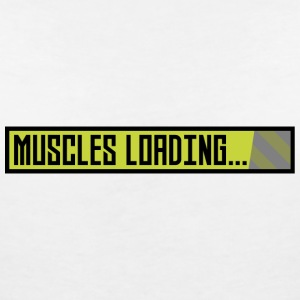 Muscles, the progress bar, Sqy9t T-Shirts - Women's V-Neck T-Shirt