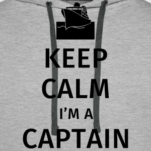 Keep Calm I'm a Captain Sweat-shirts - Sweat-shirt à capuche Premium pour hommes