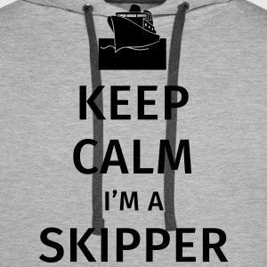 Keep Calm I'm a Skipper Sweat-shirts - Sweat-shirt à capuche Premium pour hommes
