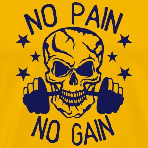 no pain gain bodybuilding musculation Tee shirts - T-shirt Premium Homme