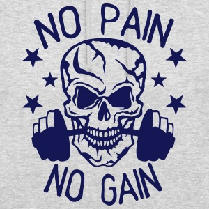 No pain gain quote bodybuilding muscle building Hoodies & Sweatshirts - Unisex Hoodie