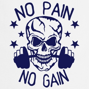 No pain gain quote bodybuilding muscle building  Aprons - Cooking Apron