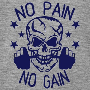 No pain gain quote bodybuilding muscle building Tops - Women's Premium Tank Top