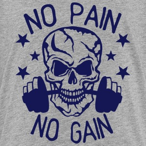 No pain gain quote bodybuilding muscle building Shirts - Teenage Premium T-Shirt