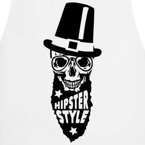 Skull hipster style quote hat  Aprons - Cooking Apron