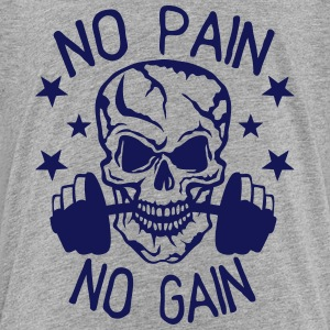 No pain gain quote bodybuilding muscle building Shirts - Kids' Premium T-Shirt