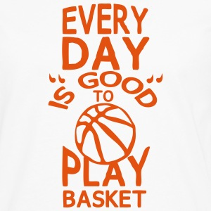 play basketball citation humour every day Manches longues - T-shirt manches longues Premium Homme