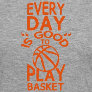 play basketball citation humour every day Manches longues - T-shirt manches longues Premium Femme