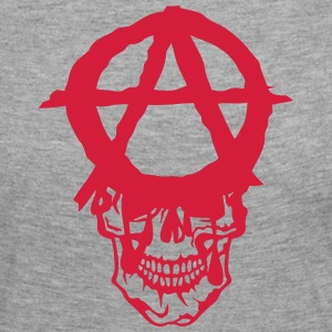Skull anarchy logo 602 Long Sleeve Shirts - Women's Premium Longsleeve Shirt