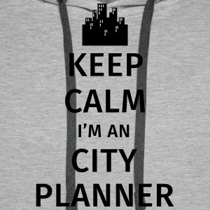 Keep Calm I'm an City Planner Bluzy - Bluza męska Premium z kapturem