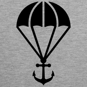 Parachute with anchor Sportkleding - Mannen Premium tank top