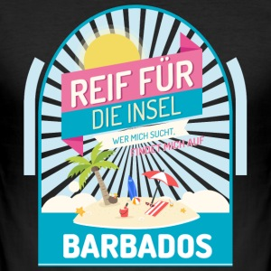 Barbados Inselurlaub T-Shirts - Männer Slim Fit T-Shirt