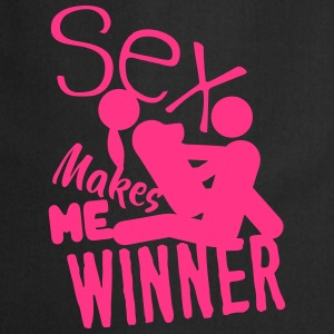 sex makes me winner quote love  Aprons - Cooking Apron