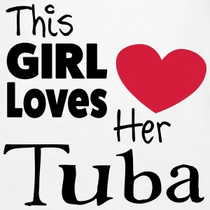 This Girl Loves Her Tuba Toppe - Dame Premium tanktop