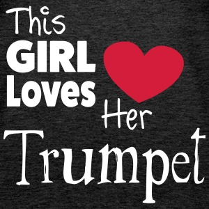 This Girl Loves Her Trumpet Tops - Frauen Premium Tank Top