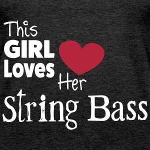 This Girl Loves String Bass Tops - Vrouwen Premium tank top